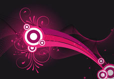 Pink abstract background. Design with ornaments Royalty Free Stock Photography