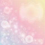 Pink abstract background with bokeh effect. Royalty Free Stock Photo