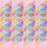 Pink abstract background of colored triangles stock illustration