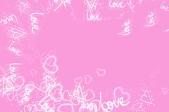 Pink abstract background concept of Valentine`s day stock illustration
