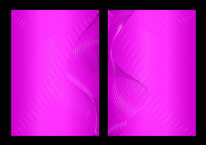 Pink abstract background, front and back Royalty Free Stock Images