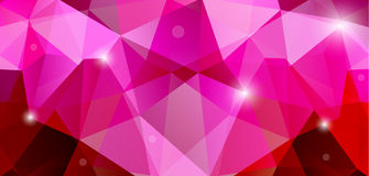 Pink abstract background. Abstract triangular pink background with triangular polygons stock illustration