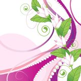 Pink Abstract Background With Pearls Stock Photos