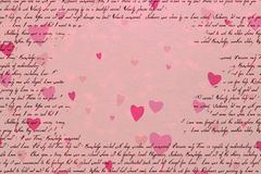 Pink abstract background concept of Valentine`s day royalty free illustration