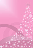 Pink abstract Christmas Tree Royalty Free Stock Image