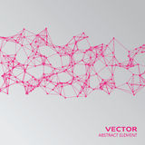 Pink abstract cybernetic particles Stock Image