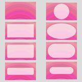 Pink digital art business card template design set. Pink abstract digital art business card template design set Royalty Free Stock Image