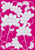 Pink abstract eastern floral stock photo