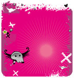 Pink Abstract emo background. royalty free illustration