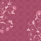 Pink abstract floral background Stock Images