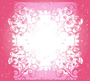 Pink abstract floral frame Stock Images