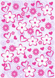 Pink Abstract  floral pattern background Stock Photos