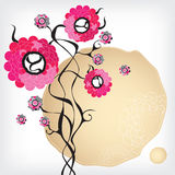 Pink abstract flowers Royalty Free Stock Photos