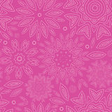 Pink abstract flowers texture seamless pattern Royalty Free Stock Image