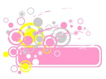 Pink abstract frame Royalty Free Stock Image