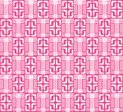 Pink abstract geometric pattern, () Royalty Free Stock Image