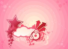 Pink abstract illustration Royalty Free Stock Photography