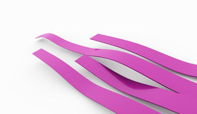 Pink abstract lines rendered Stock Photos