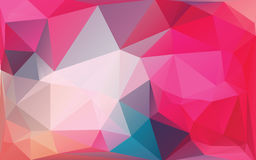 Pink Abstract Low Poly Vector Background stock illustration