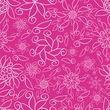 Pink Abstract Ornamental Florals royalty free illustration