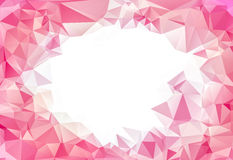 Pink abstract polygon pattern background Stock Images