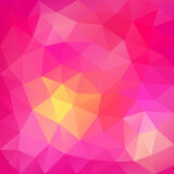 Pink abstract polygonal background. Can be used for wallpaper, p Stock Image