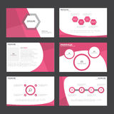 Pink Abstract presentation template Infographic elements flat design set for brochure flyer leaflet marketing Royalty Free Stock Photography