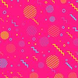 Pink abstract retro elements web background. Vector illustration Stock Photo