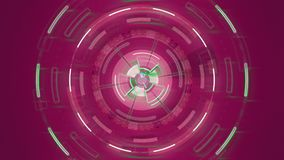 Pink abstract round animation, hi-tech background with circles. Futuristic Sci-Fi HUD effect. Pink abstract round animation, hi-tech background with circles stock footage