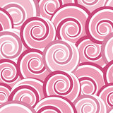 Pink abstract seamless pattern with swirls Stock Photos