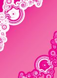 Pink abstract shapes Stock Photography