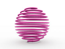 Pink abstract sphere Stock Image