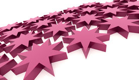 Pink abstract stars background. Rendered Royalty Free Stock Images