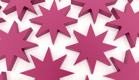 Pink abstract stars background. Rendered Royalty Free Stock Photography