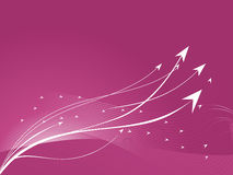 Pink abstract statistics arrow and wave Royalty Free Stock Photos