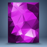 Pink vector geometric pattern abstract background Stock Photography