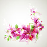 Pink Abstract. Tender background with abstract flower Royalty Free Stock Photography