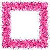 Pink abstract texture frame. Royalty Free Stock Images