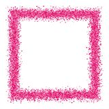 Pink abstract texture frame. Stock Photo