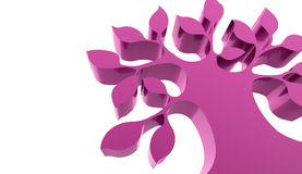 Pink abstract tree concept rendered Royalty Free Stock Photo