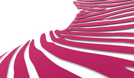Pink abstract twist light lines Stock Photo