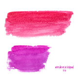 Pink abstract watercolor stain Stock Images