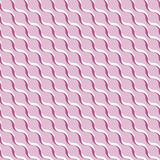 Pink abstract wavy 3D-like background. Vector seamless pattern Royalty Free Stock Photos