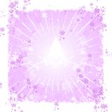 Pink abstract winter background Stock Photo