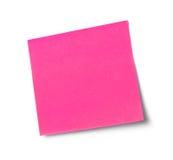 Pink adhesive note Royalty Free Stock Photos