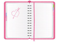 Pink agenda Royalty Free Stock Photography
