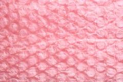 Pink air bubble sheet Royalty Free Stock Photo