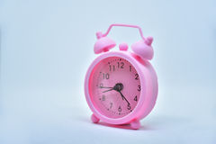 Pink alarm. Clock Stock Photos