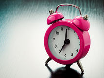 Pink Alarm clock Stock Photography