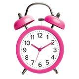 Pink alarm clock royalty free stock photos